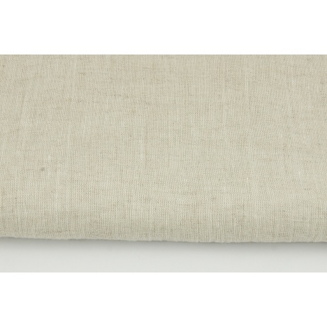 100% plain linen in natural color, softened