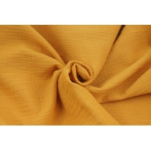Double gauze 100% cotton plain dark honey