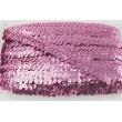 Sequin ribbon pink 20mm, elastic