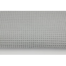 Cotton 100%, waffle fabric, plain light gray