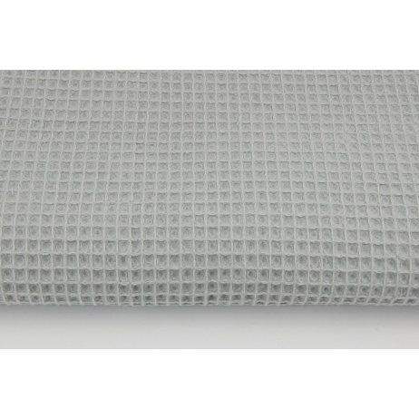Cotton 100%, waffle fabric, plain light gray