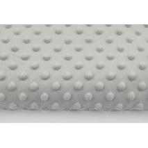 Dimple dot fleece minky ashen color 270 g/m2