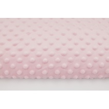 Dimple dot fleece minky light pink color 270 g/m2