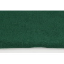 100% plain linen in a dark green color, softened