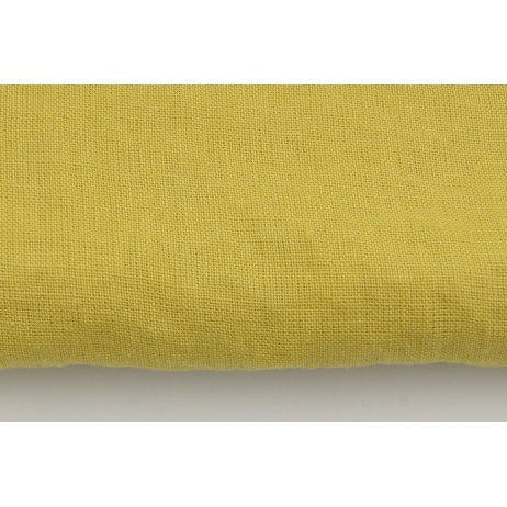 100% plain linen in a mustard color, softened