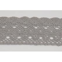 Cotton lace 75mm, light gray