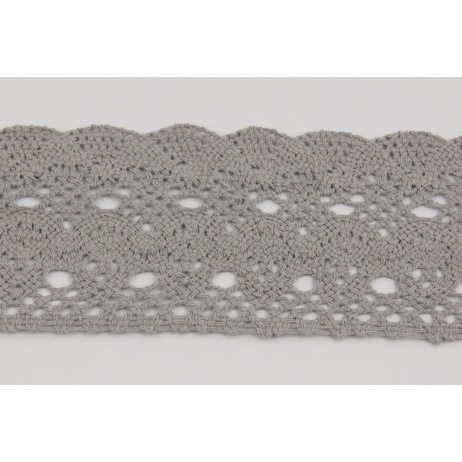 Cotton lace 75mm, light gray
