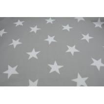 Bawełna 100% duże gwiazdy na jasnoszarym tle II jakość