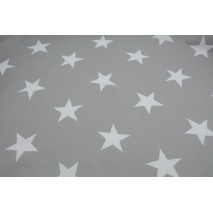 Cotton 100% big stars on a light gray background II quality