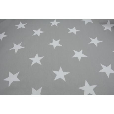 Bawełna 100% duże gwiazdy na jasnoszarym tle