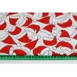 Bawełna 100% czapki Świętego Mikołaja na białym tle
