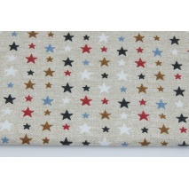 Cotton 100% stars on a linen background