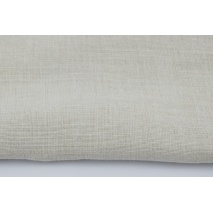 100% plain linen in light beige color, softened