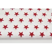 Bawełna 100% biała w bordowe gwiazdki 2,5cm