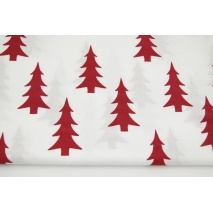Cotton 100% burgundy Christmas trees on a white background