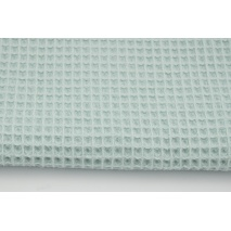 Cotton 100%, waffle fabric, plain powder mint