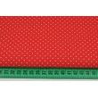 Bawełna kropki 1,5mm na czerwonym tle