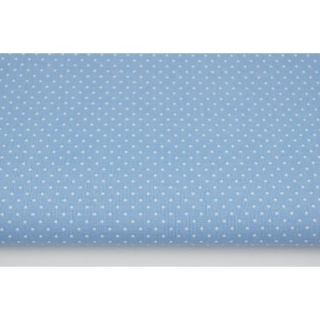 Bawełna kropki 1,5mm na niebieskim tle