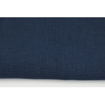 100% plain linen in navy color 280g/m2