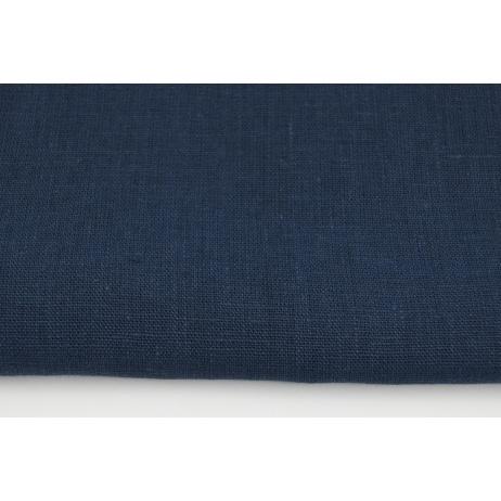100% plain linen in navy color 280g/m2