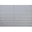 Cotton 100% light gray chevron zigzag