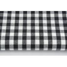 Bawełna 100% kratka vichy, dwustronna czarna 1cm (2)