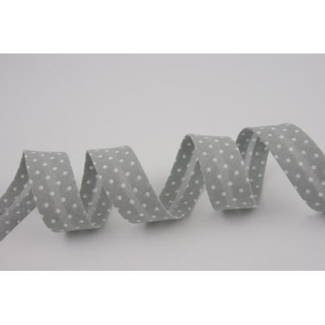 Cotton bias binding gray dotted