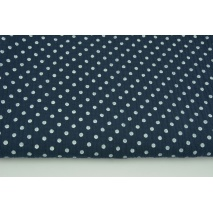 Double gauze 100% cotton dots 5mm on a navy background