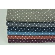 Double gauze 100% cotton dots 5mm on a dark berry background