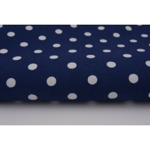 Cotton 100% polka dots 7mm on a navy blue background
