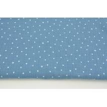 Double gauze 100% cotton tiny white stars on a dark blue background