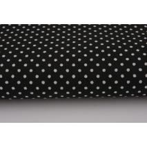 Bawełna 100% kropki białe 2mm na czarnym tle