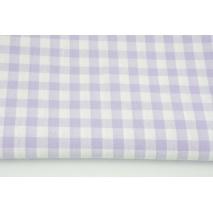 Bawełna 100% kratka vichy, dwustronna jasny fiolet 1cm