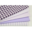 Cotton 100% double-sided light violet vichy check 1cm (2)