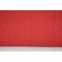 Cotton 100%, waffle fabric, plain red