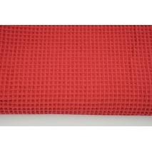 Cotton 100%, waffle fabric, plain red