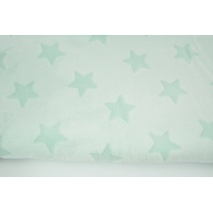 Polar fleece with shaved stars double sided, delicate mint
