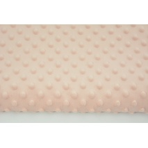 Dimple dot fleece minky peach pink