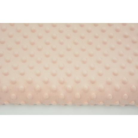 Dimple dot fleece minky peach pink