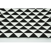 Decorative fabric, black triangles in row 160g/m2