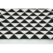 Tkanina dekoracyjna, czarne trójkąty RZ 160g/m2