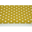 Decorative fabric, 12mm dots on a mustard background 160g/m2