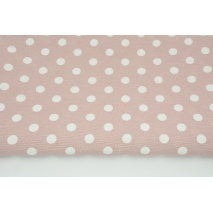 Decorative fabric, 12mm dots on a dirty pink background 160g/m2