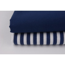 Cotton 100% plain navy blue