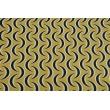 Tkanina dekoracyjna, granatowe półksiężyce na musztardowym tle 187g/m2