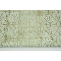Home Decor, beżowe diamenty na zielonym tle 180g/m2