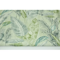 Home Decor, palm leaves on a mint background 180g/m2