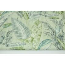 Home Decor, palmowe liście na miętowym tle 180g/m2