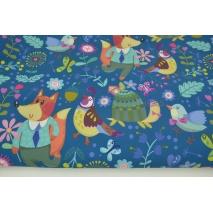 Softshell w kolorowe zwierzęta na ciemnoniebieskim tle