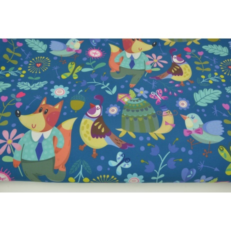 Softshell in colorful animals on a dark blue background